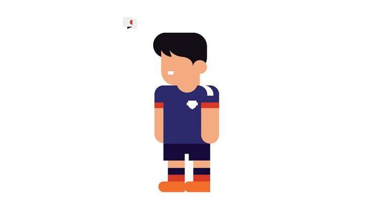 shinji kagawa japan book gol world cup brazil 2014 illustration minimal
