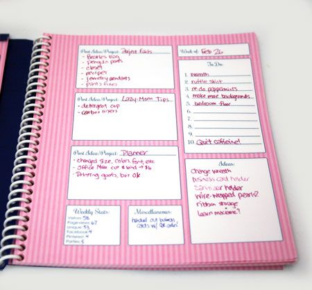 Blog Planner Book | EclecticMamma Free printables in B or in pink