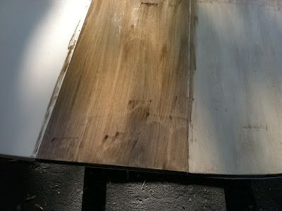 Stain over painting... beautiful effect on furniture redo
