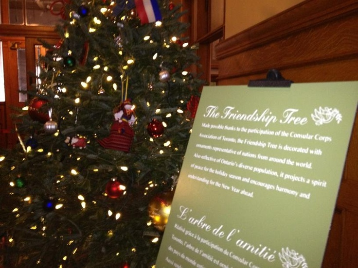 The Friendship Tree outside the Speaker's office at Queen's Park
