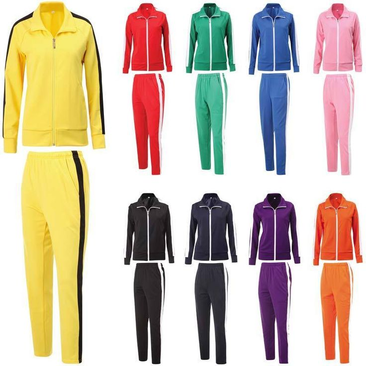 Mens Womens Running Jogging Track Suit Warm Up Jackets Pants Gym Training Wear #AZAZA #TracksuitsSweats
