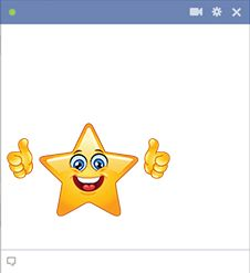 Star emoticon showing thumbs up