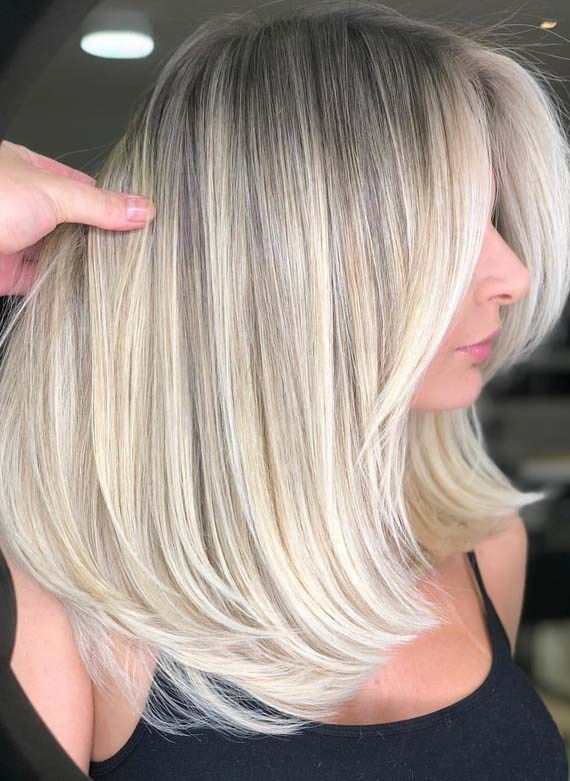 Gorgeous Bright Blonde Medium Hairstyles Trends For 2018 Medium Hair Styles Beautiful Blonde Hair Medium Length Hair Styles