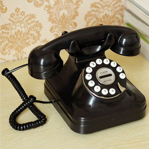 Retro Style Landline Wired Corded Table Telephone For Home Office