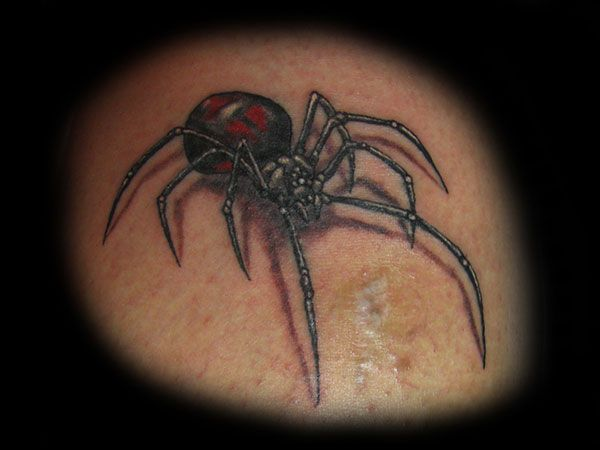 The 3D effect of this black widow spider makes it an attractive tattoo worth copying despite it being small. Description from slodive.com. I searched for this on bing.com/images