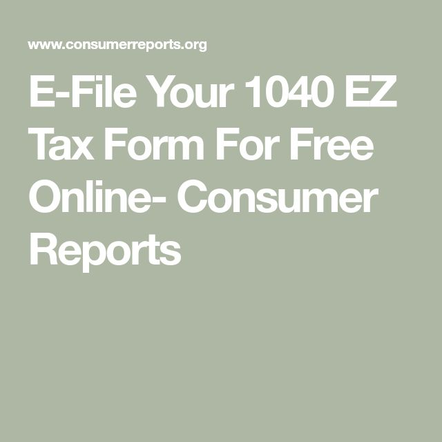 E-File Your 1040 EZ Tax Form For Free Online (With Images