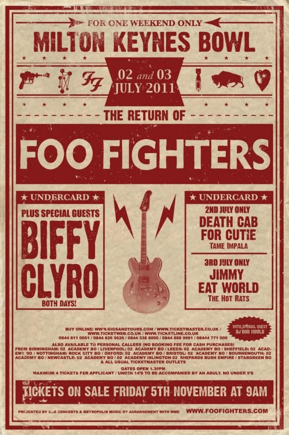 Foo Fighters at Milton Keynes Bowl 2-3 july 2011