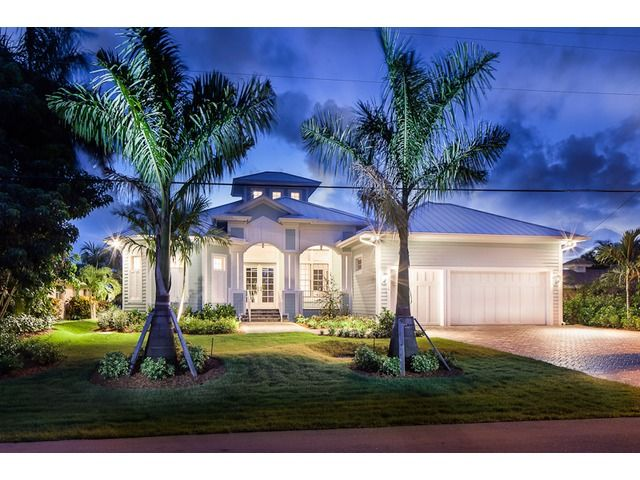 Key west style beach house waterfront royal harbor in for Key west style house designs