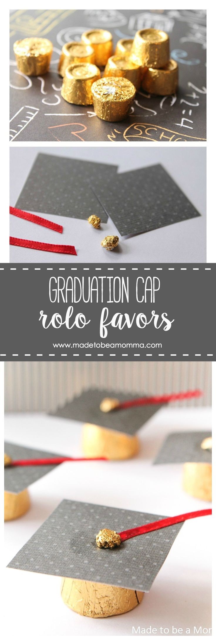 Graduation Cap Rolo Favors: a simple favor idea for your graduates party.