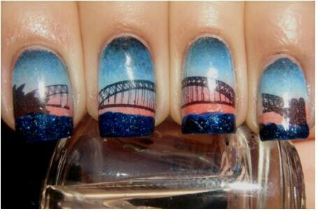 Sydney Harbor Bridge nail art