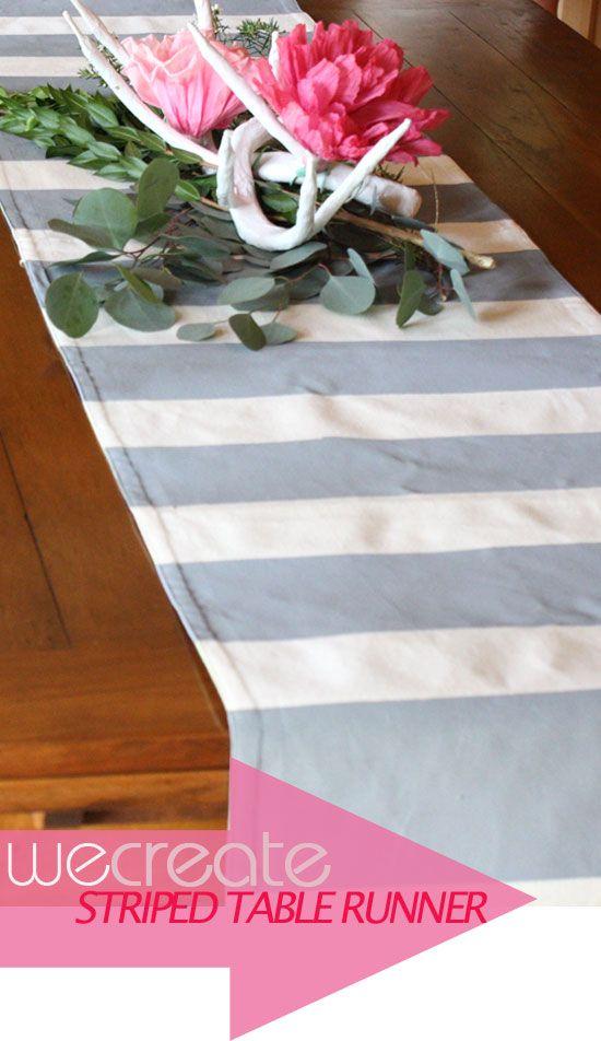 DIY stripe table runner