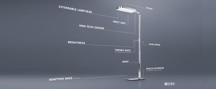 ESYLUX PRANA+ series office floor light and pendulum light