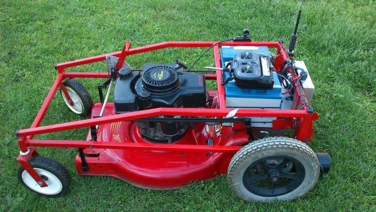 RC Powered Lawnmower – THIS IS GENIUS!