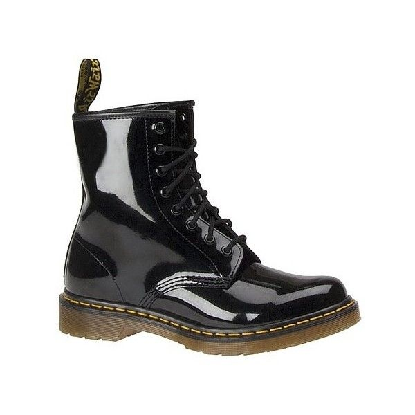 Dr Martens 1460 8-Eye Boot ($125) ❤ liked on Polyvore featuring shoes, boots, black, black shoes, dr martens footwear, dr martens boots, ski shoes and dr. martens