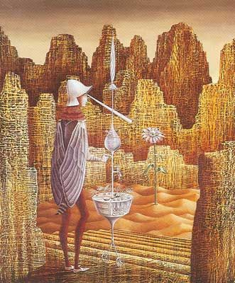 Remedios Varo,  Discovery of a Mutant Fine Art Reproduction Oil Painting