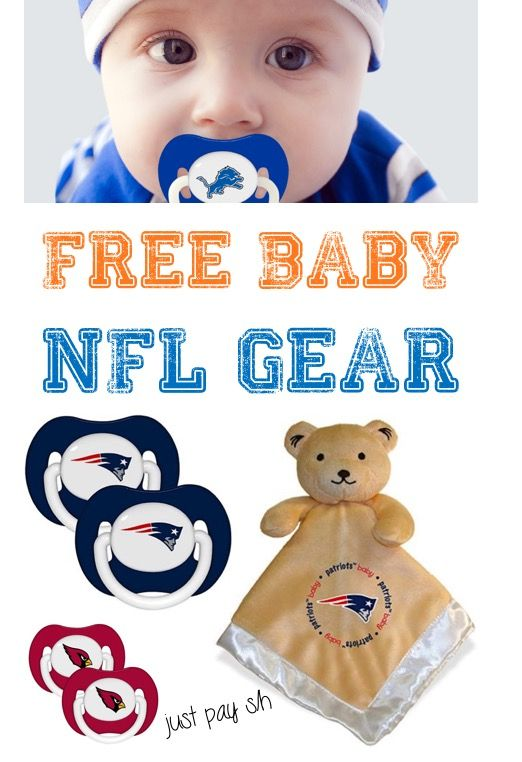 Free Baby Stuff!  How to get Free NFL Gear for Babies - perfect for those adorable football outfits!  These make the CUTEST Baby Shower Gifts, too!  Just pick your favorite team! | http://thefrugalgirls.com/2017/01/free-nfl-gear-for-babies.html