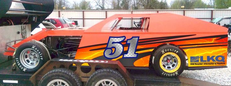 Imca Dirt Modified Race Car Wrap Half Wrap Kit Race