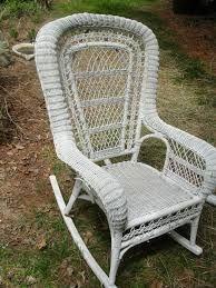 white wicker chair - Google Search