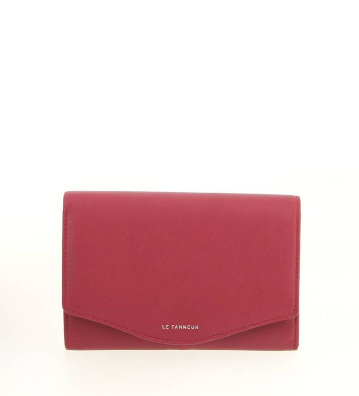 Envelope Wallet by LE TANNEUR From The Valentine Range in Fuschia