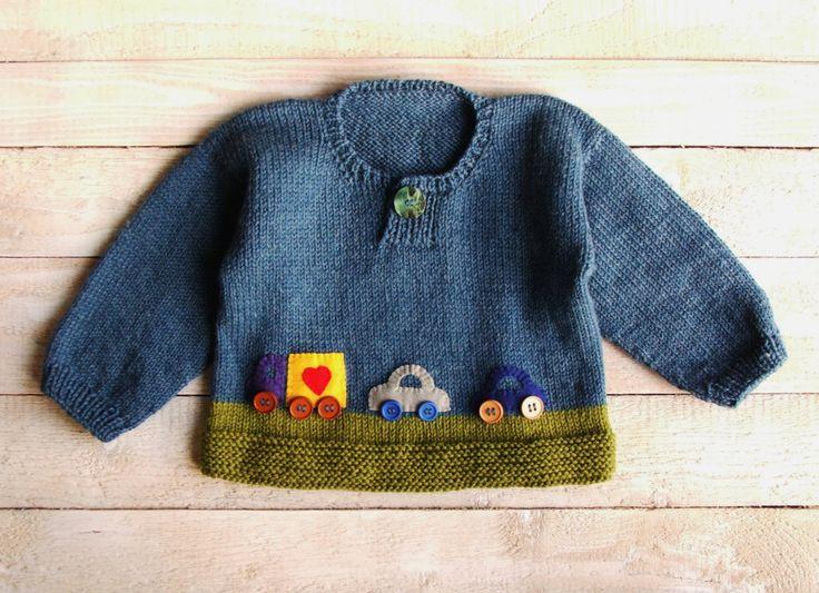 Мальчиков Одежда синий и зеленый свитер с помощью SilverMapleKnits