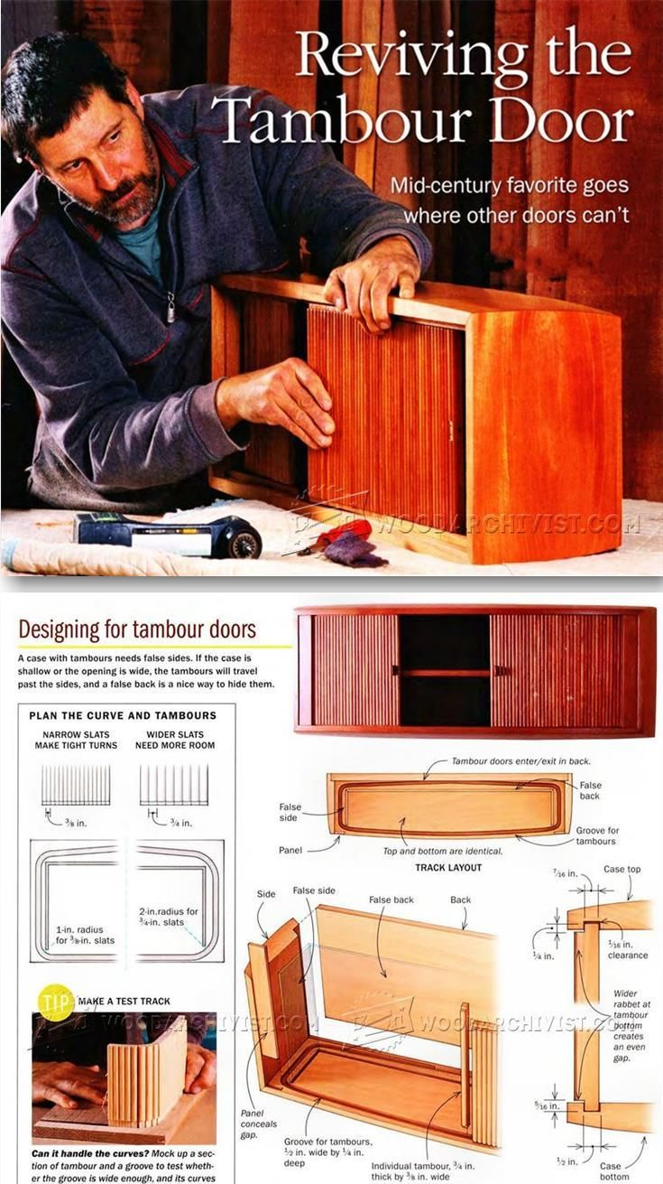 Making Tambour Doors - Woodworking Plans and Projects | WoodArchivist.com