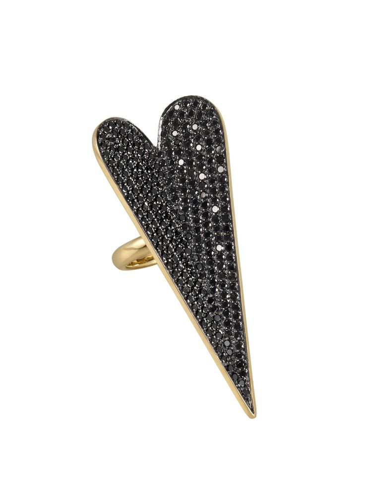 Rock Hunting - Elena Votsi Heart ring in black diamonds and 18k gold, price upon request, stoneandstrand.com.2