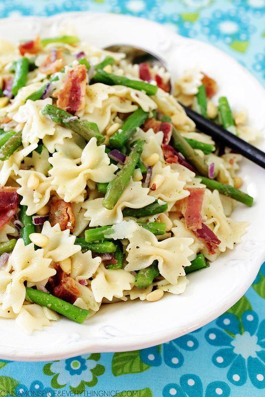 Asparagus & Bacon Pasta Salad cinnamonspiceandeverythingnice.com