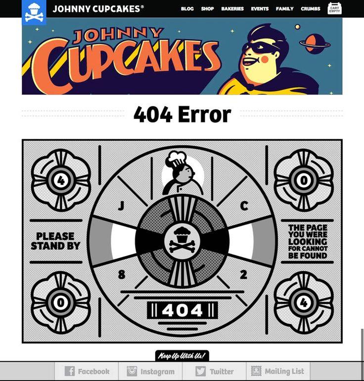 404 Error Page - Johnny Cupcakes