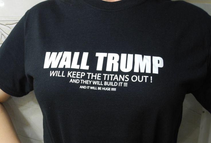 Attack On Titan Wall Trump T-Shirt #shutupandtakemyyen #attackontitan #anime #shingekinokyogin #trump #merch #merchandise #otaku #animemerch #animemerchandise #aot #snk #tee #tees #tshirt #tshirts