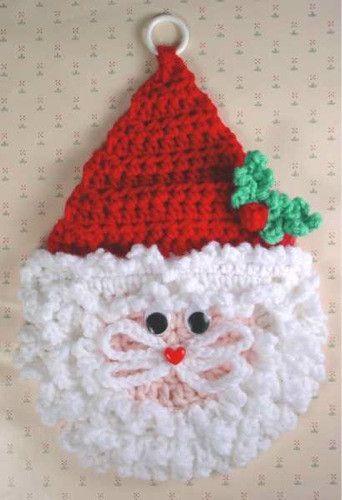 Santa Wall Hangings Crochet Pattern