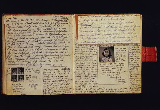 Anne Frank (June 12, 1929 – early March 1945) kept a diary for herself, then began editing it for publication after she heard on a Dutch radio broadcast that they would be seeking letters and diaries after the war ended.