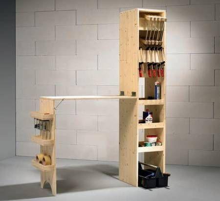 die besten 25 werkbank klappbar ideen auf pinterest. Black Bedroom Furniture Sets. Home Design Ideas