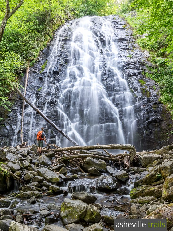 Hhike to the towering cascades of North Carolina's Crabtree Falls, just off the Blue Ridge Parkway