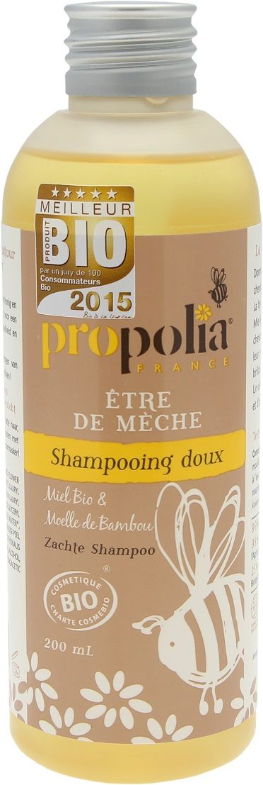Propolia - Organiczny delikatny szampon. Miód, Włókna Bambusa BeeYes