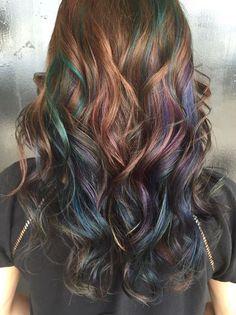 Oil Slick Hair: The Epic New Rainbow Hair Technique