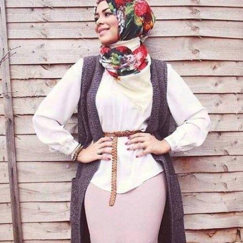 pencil skirt hijab
