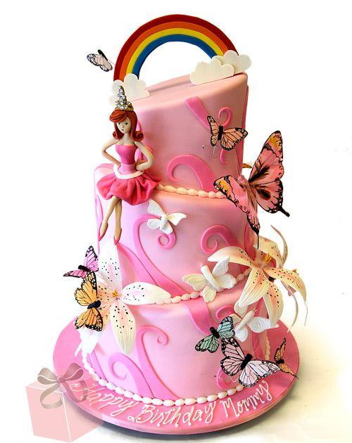 pink birthday cake for girls Birthday Cakes For Girls