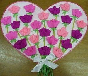 "Открытка ""Цветы на сердце"""