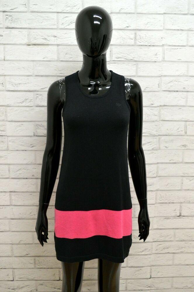 best sneakers 8112b 5c146 Vestito Tubino Abito Donna Nero TOMMY HILFIGER Dress Woman ...
