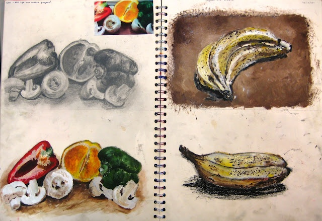 Y10 sketchbook page
