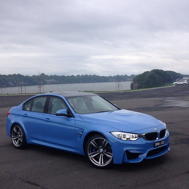 The all new #BMW #M3 Sedan finished in Yas Marina #Blue.