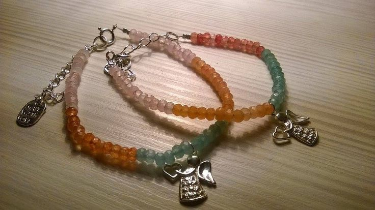 Wonderful angel bracelets from Natalia with our Multicolor natural nephrite 2205. Thank you Natalia so much!