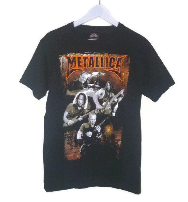 Vintage Band T Shirt Metallica Metallica band t Shirt Vintage Band t shirt Black Band T shirt Metallica M 38-40 Rock@Tees Tshirt Shortsleeve by VirtageVintage on Etsy