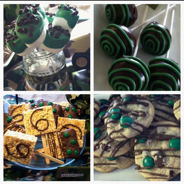 Army themed birthday party desserts by NatalieKMudd Nmudd78@gmail.com