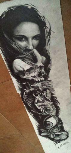 sleeve tattoo by AndreySkull on DeviantArt