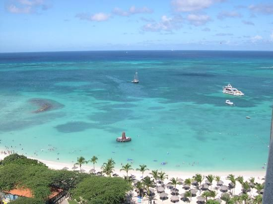 Aruba - went there for a day in 2010 (on a cruise) - DESPERATE to go back. Just stunning!