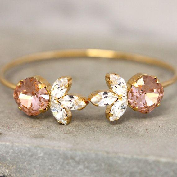 Hey, I found this really awesome Etsy listing at https://www.etsy.com/listing/265111505/bridal-wedding-braceletswarovski-blush