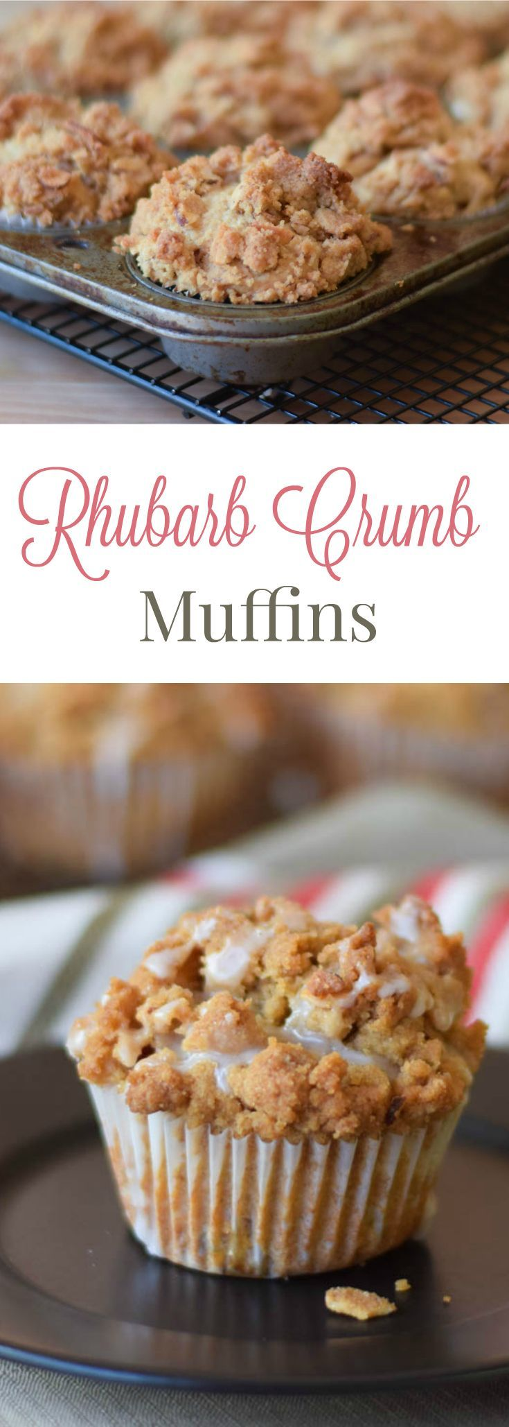 Rhubarb Crumb Muffins (baking ideas breakfast)