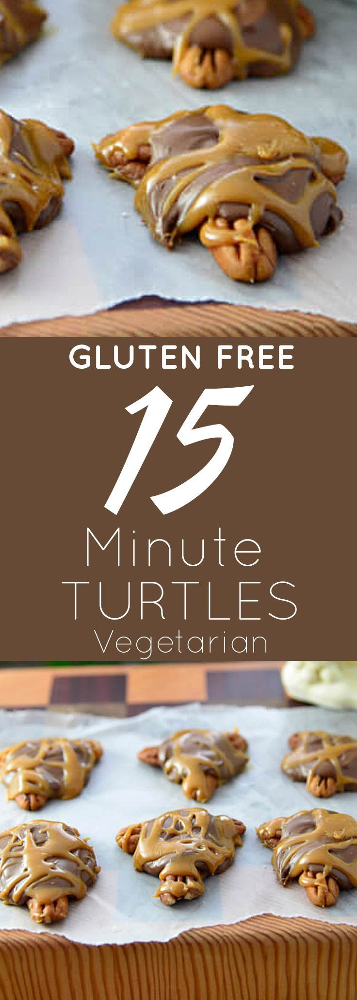 Gluten Free 15-Minute Turtle Recipe | I can pre make these, and keep them in the freezer till thanksgiving