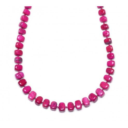 Lola Rose Fonda Ruby Pink Magnesite Necklace at aquaruby.com